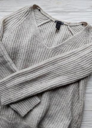 Свитер кофта джемпер реглан светр вязанный с вырезом