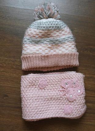 Зимовий набір: шапка+ шарф 2-4 роки