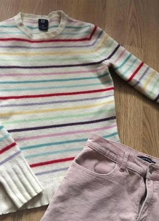 Gap свитер в полоску шерстяной