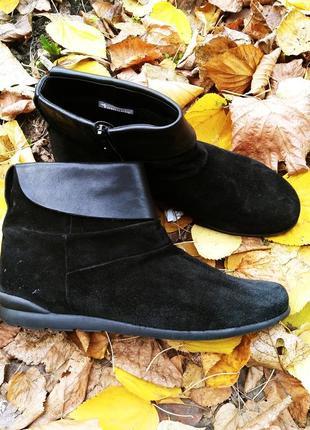 Полусапожки ботинки тамарис tamaris 39  германия натуральный замш
