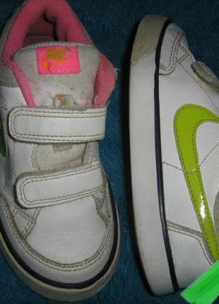 Кожаные детские кроссовки nike на 25