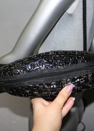 Черная плетеная сумка италия3