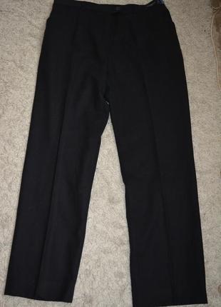 Теплые классические стройнящие брюки, шерсть, по фигуре