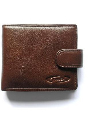 Коричневый кожаный кошелек бумажник портмоне, 100% натур. кожа, есть доставка бесплатно