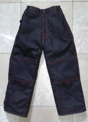 Теплые лыжные штаны для мальчика 7-9 лет sport performance