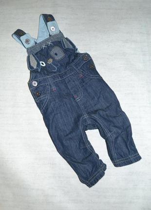 Детский джинсовый комбинезон некст