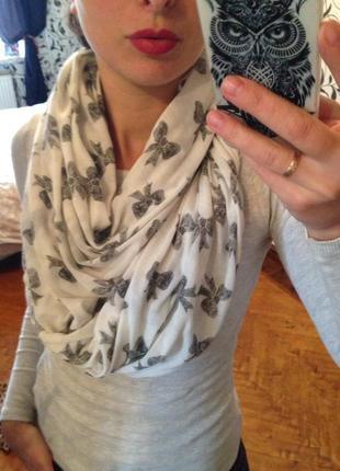 Трикотажный снуд,шарф женский,платок женский