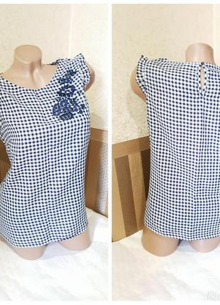 Блузка f&f. с вышивкой.