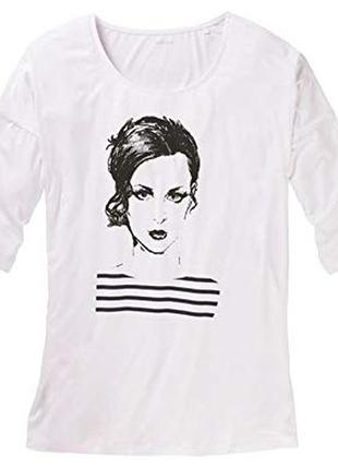 Esmara women's t-shirt white кофта xl 48/50