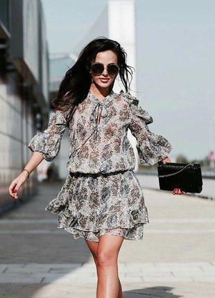 Нежное красивое легкое шифоновое платье