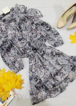 Шифоновое платье, легкое и красивое