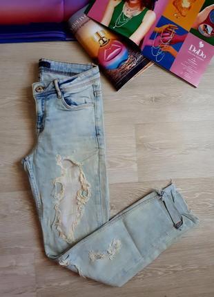 Джинсы zara / рваные джинсы