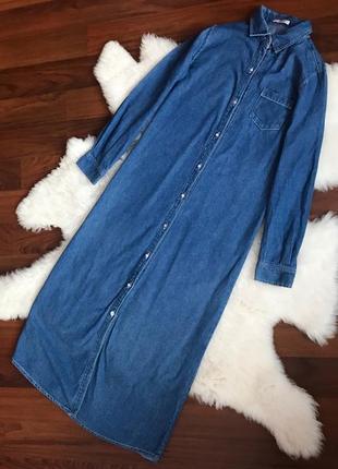 Шикарное джинсовое длиннее платье тренд года ❤️
