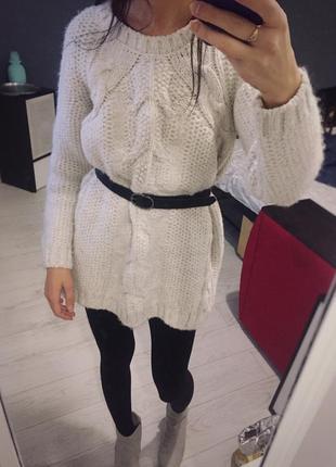Туника, короткое вязаное платье