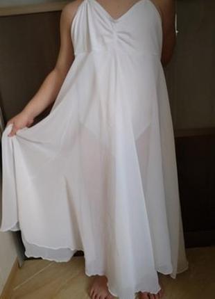 Купальник-платье для гимнастики, танцев на 6-8 лет