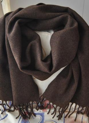 Шерстяной фирменный шарф италия / шерстяний шарф