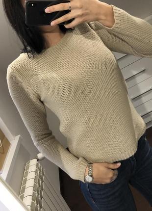 Кофта свитер бежевая zara, mango