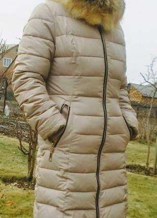 Зимние пальто беж