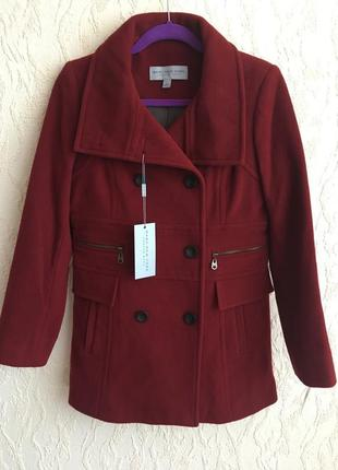 "Пальто цвета бургунди ""marc new york"""