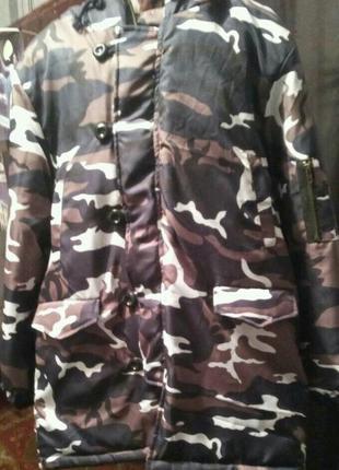 Тренд сезона- зимняя камуфляжная куртка1 фото