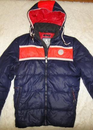 Шикарная мужская зимняя очень теплая куртка gaastra р.48 (м) голландия