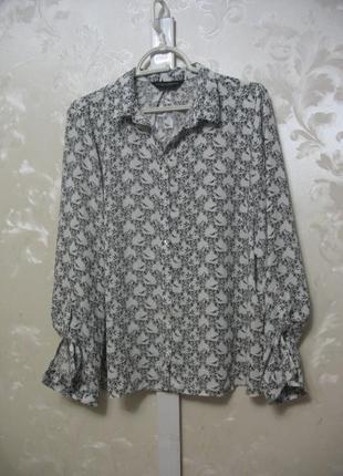 Блуза-рубашка с птичками dorothy perkins