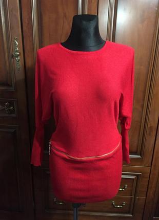 Платье трикотажное стильное