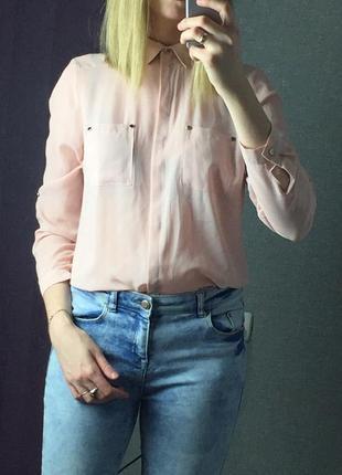 Пудровая рубашка atmosphere, размер m-l