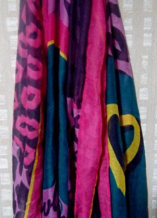 Палантин. шарф яркой расцветки tcm tchibo