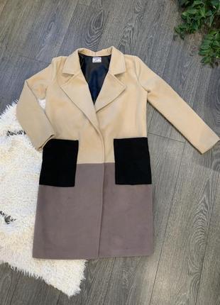 Пальто оверсайз осеннее на подкладке