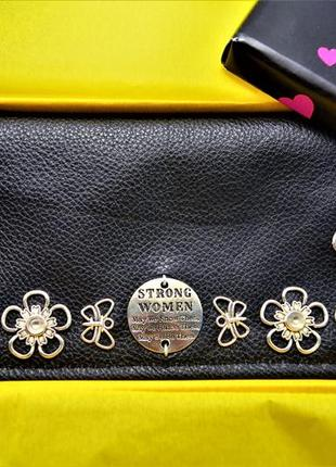 Кожаный женский кошелек