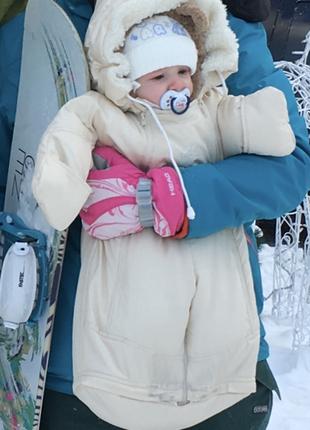 Зимний комбинезон-трансформер с рождения (конверт) до 1.5 лет