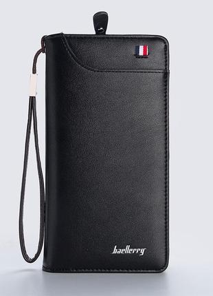 Мужское портмоне, кошелек baellerry classic france эко-кожа черный