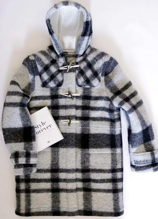 Шерстяное стильное и тёплое пальто, дафлкот tommy hilfiger