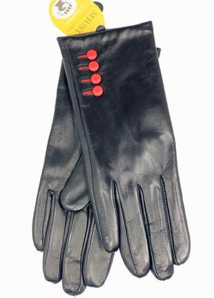 Кожаные перчатки сенсорные