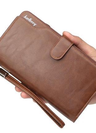Мужской портмоне, кошелек baellerry business new эко-кожа коричневый