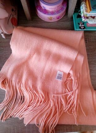 Мягкий персиковый шарф marks&spencer