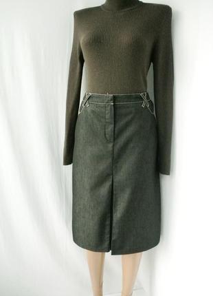 Стильная  джинсовая юбка kapp ahl. размер uk 12/40 (м/l).