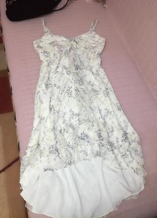 Нежный шелковый сарафан (платье) john levis (100% шёлк), р.18 (16/20)