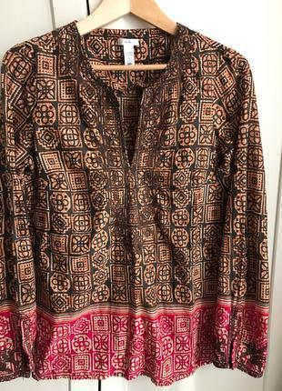 Рубашка хлопок этническая индия