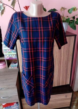 Актуальное платье в шотландскую клетку с карманами dorothy perkins,размер l,наш 48
