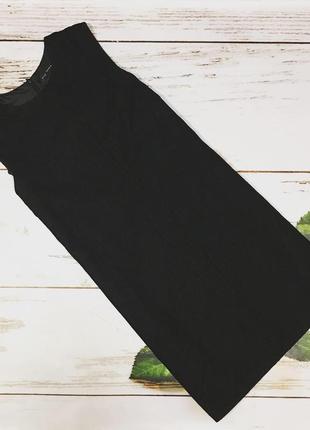 Платье чёрное zara basic, l