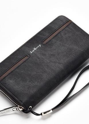 Мужской портмоне, кошелек baellerry denim model 2 черный