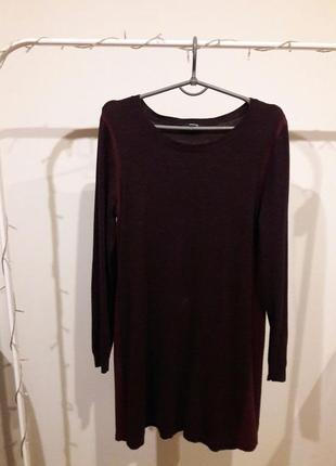 Платье винного цвета марсала