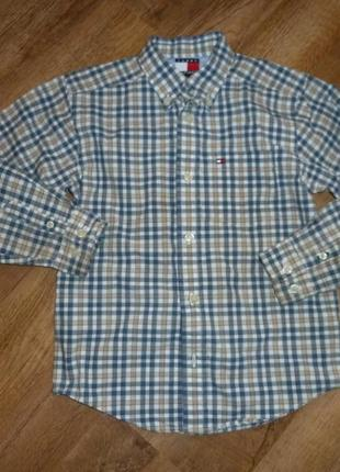 Tommy hilfiger рубашка на 6 лет с длинным рукавом, отличное состояние , плотная