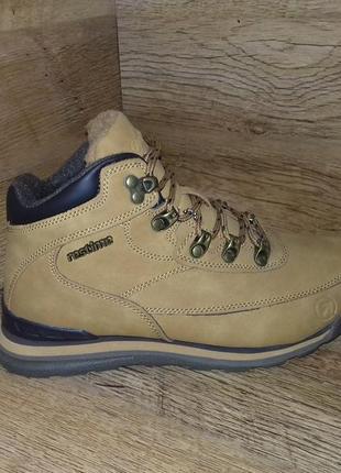 Зимние ботинки restime р. 36-41 полномерные чёрные и жёлтые