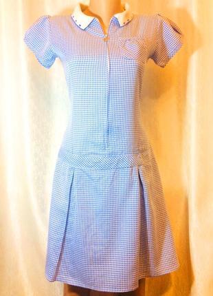 M&s school подростковое платье в клетку. (12-13years, height-158 см.) made in sri lanka