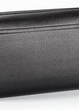 Мужской портмоне, клатч baellerry gross эко-кожа вместительный черный