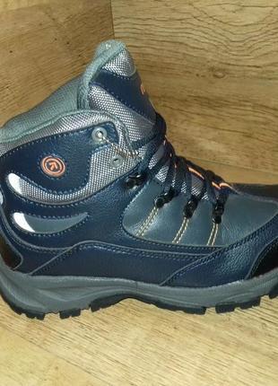 Зимние детские ботинки restime р. 36 37 полномерные натуральная кожа синие