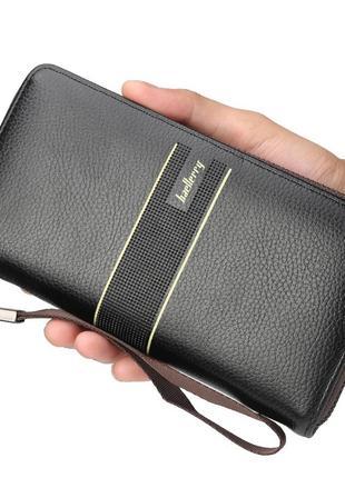 Мужской портмоне, кошелек baellerry styling эко-кожа черный